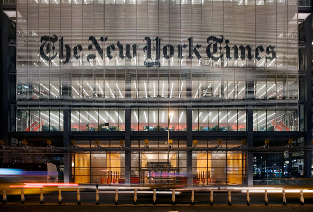 Lutron Light Control Systems in The New York Times Building