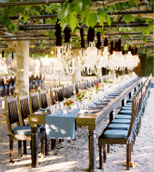 Find Your Outdoor Wedding Lighting Style