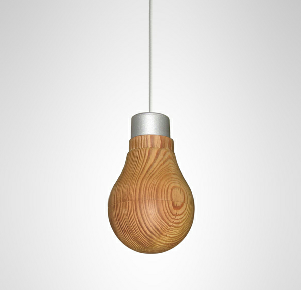 Wood + LED Light = Wooden LED Light Bulb