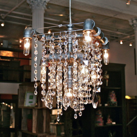 Michael Mchale Designs Rustic Chic Lighting Using Pipes