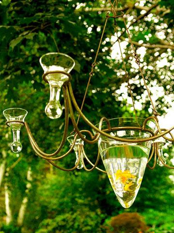A Wisconsin Garden Wonderland & A Fish Bowl Chandelier