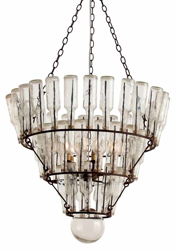 arteriors fifty two vintage bottle chandelier 3