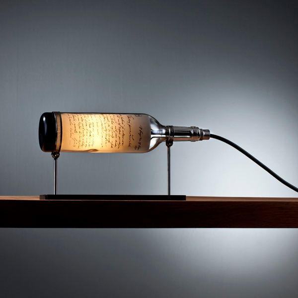 Recycled wine bottle table lamps lightopias blog the latest recycled wine bottle table lamps mozeypictures Gallery
