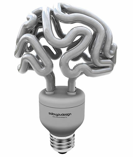 Solovyov Design's Energy Efficient Brain Shaped Light Bulb