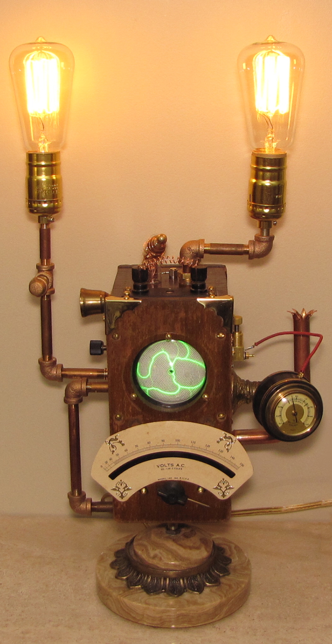 Vintage Electrical Meter Table Lamps