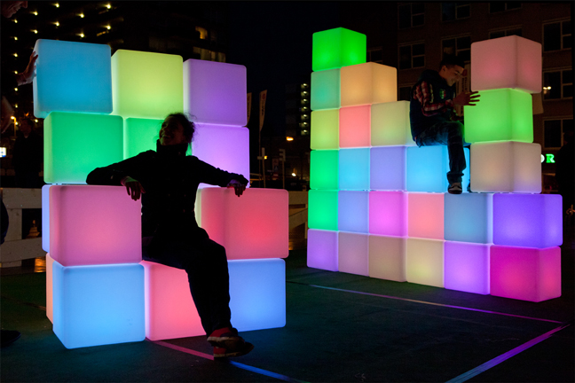 Get Pixelated with the Pixels 2.0 Light Installation