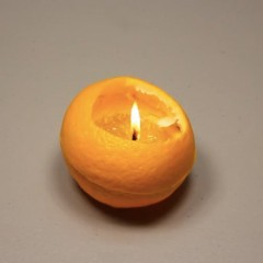 Make a Candle from an Orange in 1 Minute