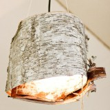 The DIY Birch Bark Outdoor Lanterns