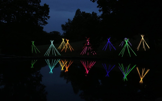 Bruce Monro's Fluorescent Light Tube Tepees