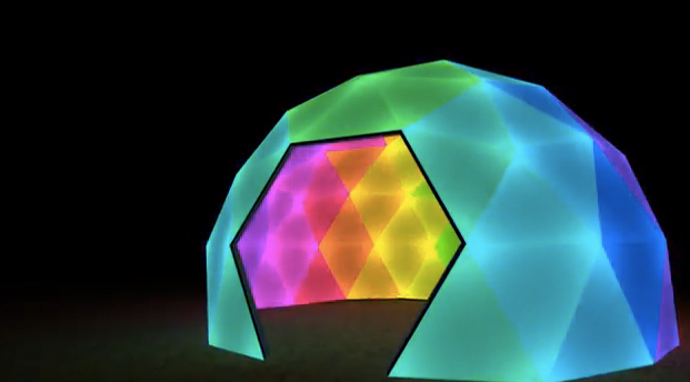 Diodome's Animated Geodesic LED Dome