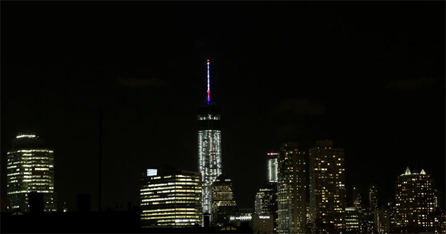 Rebuilding the One World Trade Center with LED Lights