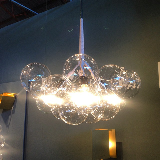 Fancy pelle bubble chandelier